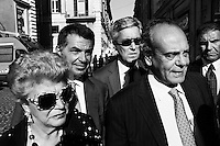 ROME, ITALY - 19 September 2013: Inauguration of the new headquarters of Silvio Berlusconi's Forza Italia party, in Piazza di San Lorenzo in Lucina, in Rome, Italy, on September 19th 2013.<br /> <br /> The party Forza Italia, consisting of the current People of Freedom (PdL), would be a revival of a party with the same name, active from 1994 to 2009, when it was merged with National Alliance (AN) and several minor parties to form the Popolo della Libertà (PdL). As in 1994, the party's leader will be Silvio Berlusconi, four-times Prime Minister of Italy.