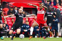 Adama Traore of Middlesbrough takes on Alan Hutton of Aston Villa - Mandatory by-line: Robbie Stephenson/JMP - 12/05/2018 - FOOTBALL - Riverside Stadium - Middlesbrough, England - Middlesbrough v Aston Villa - Sky Bet Championship