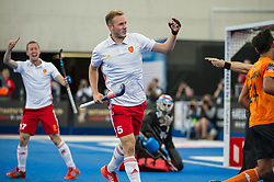David Ames. England v Malaysia - 3rd/4th Playoff - Hockey World League Semi Final, Lee Valley Hockey and Tennis Centre, London, United Kingdom on 25 June 2017. Photo: Simon Parker
