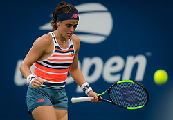 August 28, 2018 - Nicole Gibbs of the United States in action during the first round of the 2018 US Open Grand Slam tennis tournament. New York, USA. August 28th 2018. (Credit Image: © AFP7 via ZUMA Wire)