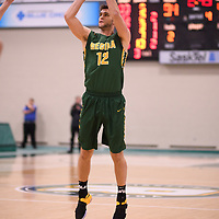 4th year forward Kornel Tokolyi (12) of the Regina Cougars during the Men's Basketball home game on November 11 at Centre for Kinesiology, Health and Sport. Credit: Arthur Ward/Arthur Images