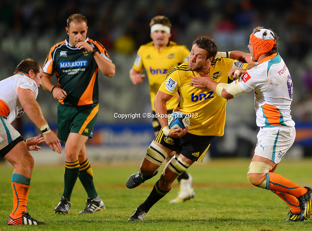Jeremy Thrush of the Hurricanes during the Super Rugby match between the Cheetahs and the Hurricanes at the Free State Stadium in Bloemfontein on May 10, 2013©Barry Aldworth/BackpagePix