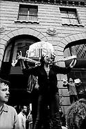 Palestinians protesting outside Israeli Consulate, San Francisco, 2002