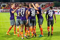 NOVI SAD - 18-08-2016, Vojvodina - AZ, Karadjordje Stadion, AZ speler Stijn Wuytens heeft de 0-1 gescoord.
