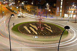 Furnival Square, Sheffield, street illumination at night