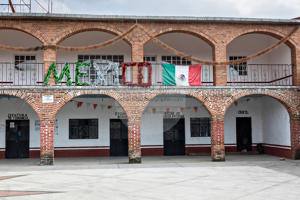 The old city jail and government offices in the tiny village of Cucuchucho, Michoacan, Mexico.