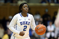 03 March 2013: Duke's Alexis Jones. The Duke University Blue Devils played the University of North Carolina Tar Heels at Cameron Indoor Stadium in Durham, North Carolina in a 2012-2013 NCAA Division I and Atlantic Coast Conference women's college basketball game. Duke won the game 65-58.