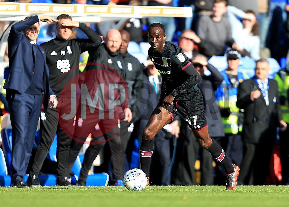Albert Adomah of Aston Villa - Mandatory by-line: Paul Roberts/JMP - 29/10/2017 - FOOTBALL - St Andrew's Stadium - Birmingham, England - Birmingham City v Aston Villa - Skybet Championship