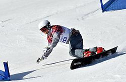22-02-2014 SNOWBOARDEN: OLYMPIC GAMES: SOTSJI<br /> Parallelslalom Extreem park Rosa Khutor / Rok Flander of Slovenia.<br />  Foto Ronald Hoogendoorn / Sportida.com