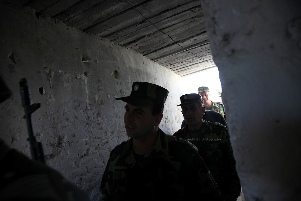 Inside the trenches and shelters of the karabakh army near Adgam frontline next to the aserbaijani positions. Since the cesasefire agreement from 1994 armenian and aseri forces have made the border area around the unrecognized Repblice Nagorno Karabakh to a warren of trenches. Shootings between both army taken place regularly.