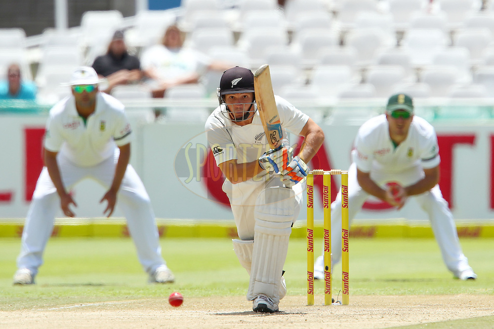 BJ Watling sets off on the run during the 3rd day of the 1st Sunfoil Test match between South Africa and New Zealand held at Newlands Stadium in Cape Town, South Africa on the 4th January 2013..Photo by Ron Gaunt/SPORTZPICS .