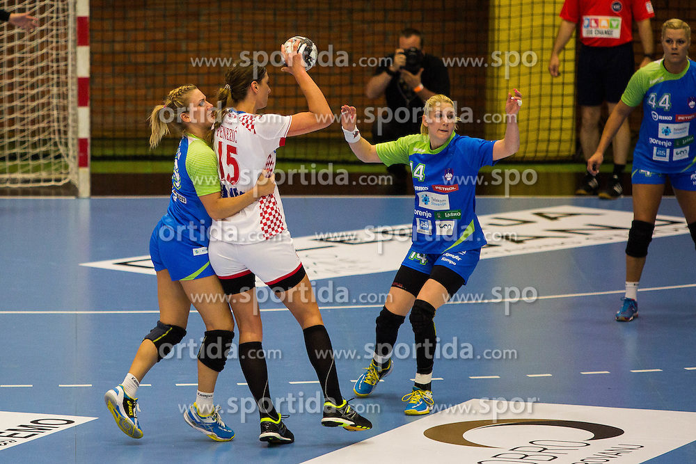 Tamara Mavsar of Slovenia during handball match between Women national teams of Slovenia and Croatia in Round #5 of Qualifications for Women's EHF EURO 2016 Championship in Sweden, on June 1, 2016 in Arena Golovec, Celje, Slovenia. Photo by Ziga Zupan / Sportida