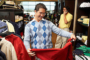 Two Men in a Golf Shop