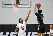 November 13, 2018: The Dallas Christian College Crusaders play against the Oklahoma Christian University Eagles in the Eagles Nest on the campus of Oklahoma Christian University.