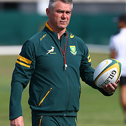 DURBAN, SOUTH AFRICA - AUGUST 04: Springbok coach Heyneke Meyer during the South Africa Springboks training session at Peoples Park on August 04, 2015 in Durban, South Africa. (Photo by Steve Haag/Gallo Images)