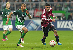 30.10.2010, Weserstadion, Bremen, GER, 1. FBL, Werder Bremen vs 1. FC Nürnberg / Nuernberg, im Bild Wesley (Bremen #5), Mehmet Ekici (Nuernberg #37)   EXPA Pictures © 2010, PhotoCredit: EXPA/ nph/  Frisch+++++ ATTENTION - OUT OF GER +++++