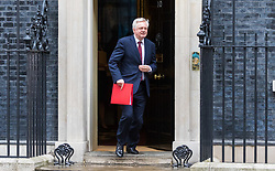 London, June 27th 2017. Secretary of State for Exiting the European Union David Davis leaves the weekly UK cabinet meeting at 10 Downing Street in London.