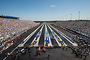 April 22-24, 2016: NHRA 4 Wide Nationals: Tony Schumacher,Top Fuel (right) lines up for Top Fuel eliminations.