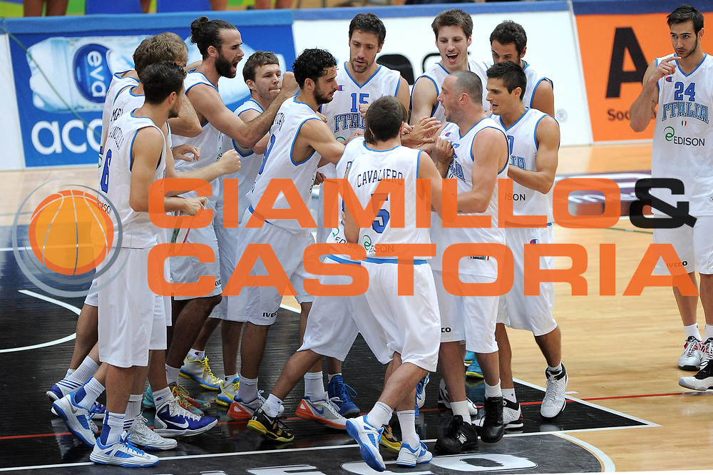 DESCRIZIONE : Trento Trentino Basket Cup Nazionale Italia-Israele<br /> GIOCATORE : Team <br /> CATEGORIA : Pre Game<br /> SQUADRA : Italia<br /> EVENTO :  Trento Trentino Basket Cup<br /> GARA : Italia-Israele<br /> DATA : 08/08/2013<br /> SPORT : Pallacanestro<br /> AUTORE : Agenzia Ciamillo-Castoria/V.Tasco<br /> Galleria : FIP Nazionali 2013<br /> Fotonotizia : Trento Trentino Basket Cup Nazionale Italia-Israele<br /> Predefinita :