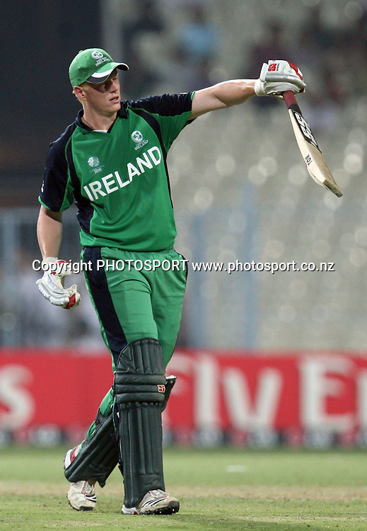 Ireland batsman Kevin O'Brien go back pavilion during the ICC Cricket World Cup - 34th Match, Group B South Africa vs Ireland Played at Eden Gardens, Kolkata, 15 March 2011 - day/night