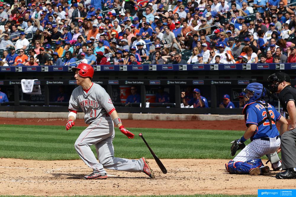 Todd Frazier, Cincinnati Reds,  batting during the New York Mets Vs Cincinnati Reds MLB regular season baseball game at Citi Field, Queens, New York. USA. 28th June 2015. Photo Tim Clayton