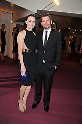 VICTORIA PENDLETON and SCOTT GARDNER at the GQ Men of The Year Awards 2012 held at The Royal Opera House, London on 4th September 2012.