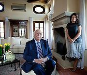 Verona , Giovanni Rana con la nuora Antonella  Rana Responsabile del Coordinamento e della Comunicazione del Pastificio Rana