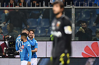 Goal celebration esultanza gol Dries Mertens<br /> Genova 25-10-2017 Stadio Marassi Calcio Serie A 2017/2018 Genoa - Napoli Foto Image Sport / Insidefoto