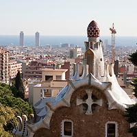 Park Guell Barcelona in December