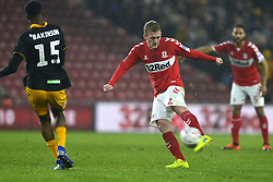 January 26, 2019 - Middlesbrough, North Yorkshire, United Kingdom - Boro's George Saville has a shot at goal during  the FA Cup match between Middlesbrough and Newport County at the Riverside Stadium, Middlesbrough on Saturday 26th January 2019. (Credit Image: © Mi News/NurPhoto via ZUMA Press)