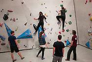 netherlands, Nederland, Enschede 07mrt2015 Cube Bouldergym in de voormalig 'polaroid' fabriek in enschede
