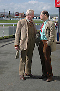 Robin Salmon and Michael Berkeley. Ludlow Charity Race Day,  in aid of Action Medical Research. Ludlow racecourse. 24 march 2005. ONE TIME USE ONLY - DO NOT ARCHIVE  © Copyright Photograph by Dafydd Jones 66 Stockwell Park Rd. London SW9 0DA Tel 020 7733 0108 www.dafjones.com