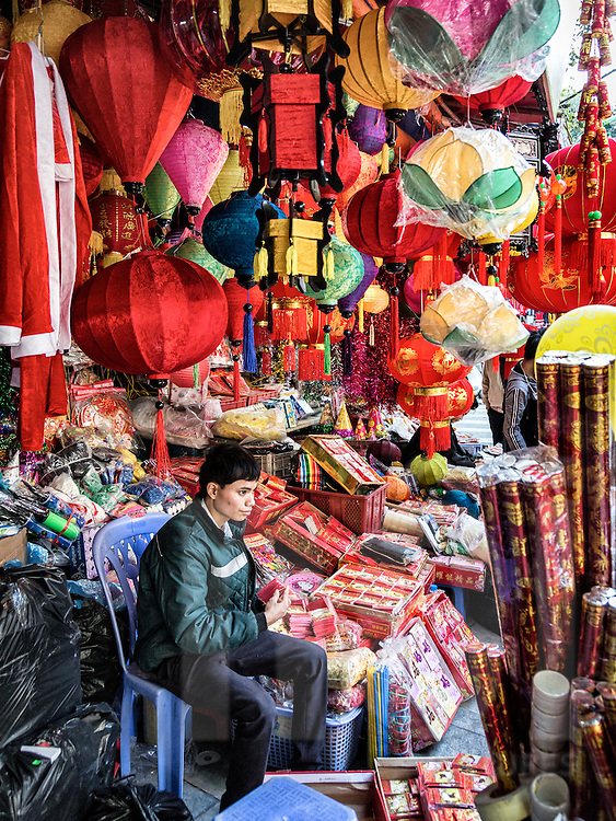 Hang Ma street, famous for votive paper products in Hanoi's