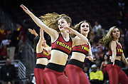 Feb 21, 2019; Los Angeles, CA, USA; Southern California Trojans dance force cheerleaders perform in the second half against the Oregon Ducks at Galen Center.