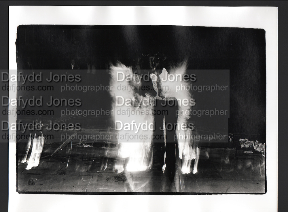 Burning boat, Oriel, Oxford. 1981