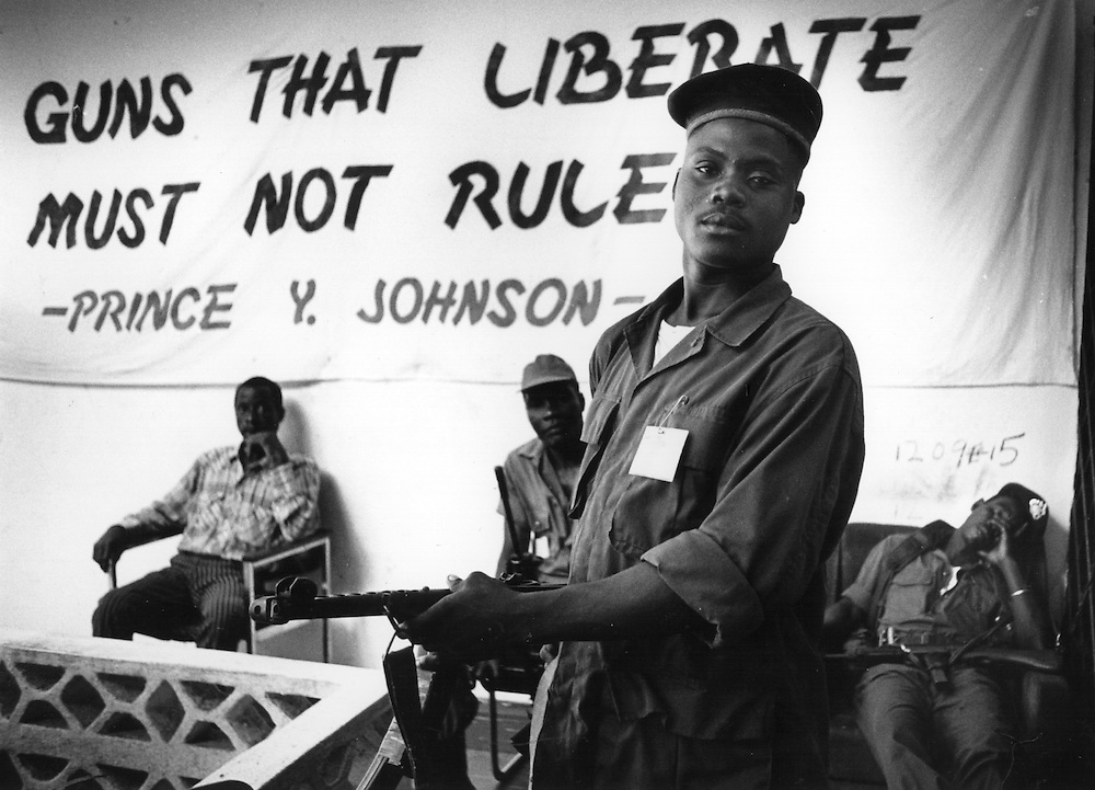 Prince Y. Johnson's encampment outside Monrovia, Liberia.
