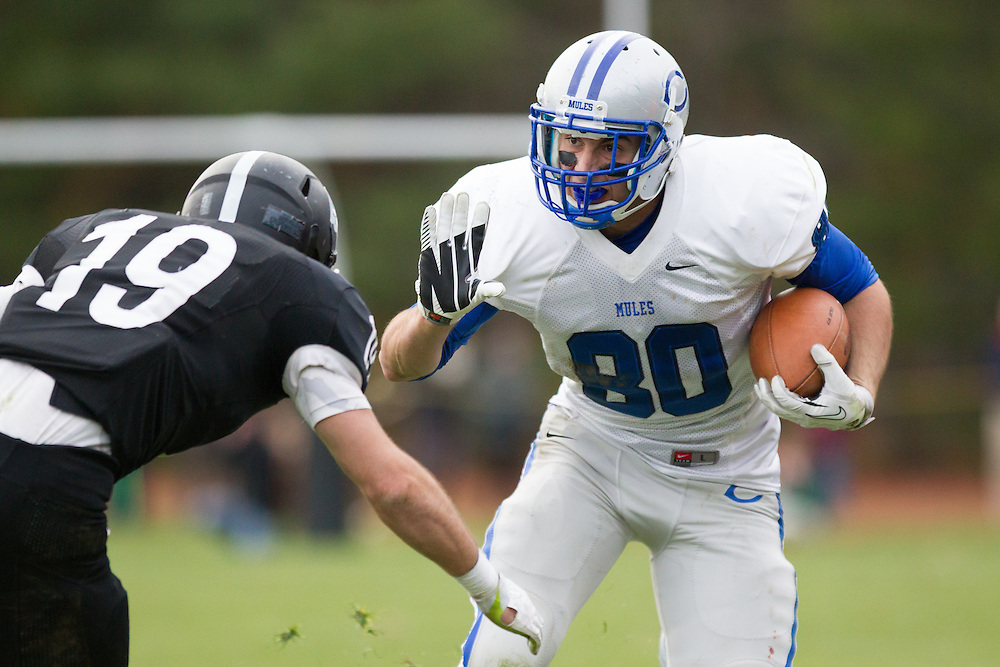Glenn Parsons, of Colby College, during a NCAA Division III football game against Bowdoin College on November 9, 2013 in Waterville, ME. (Dustin Satloff/Colby College Athletics)