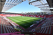 A general view inside Rotherham United AESSEAL stadium before the EFL Sky Bet League 1 match between Rotherham United and Shrewsbury Town at the AESSEAL New York Stadium, Rotherham, England on 21 September 2019.