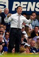 Photo. Jed Wee.<br /> Everton v Blackburn Rovers, FA Barclaycard Premiership, 24/04/2004.<br /> Blackburn manager Graeme Souness has reason to cheer following a 1-0 win.