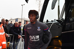 "Crystal Palace's Wilfried Zaha before the Premier League match at The Hawthorns, West Bromwich. PRESS ASSOCIATION Photo Picture date: Saturday December 2, 2017. See PA story SOCCER WBA. Photo credit should read: Anthony Devlin/PA Wire. RESTRICTIONS: EDITORIAL USE ONLY No use with unauthorised audio, video, data, fixture lists, club/league logos or ""live"" services. Online in-match use limited to 75 images, no video emulation. No use in betting, games or single club/league/player publications."