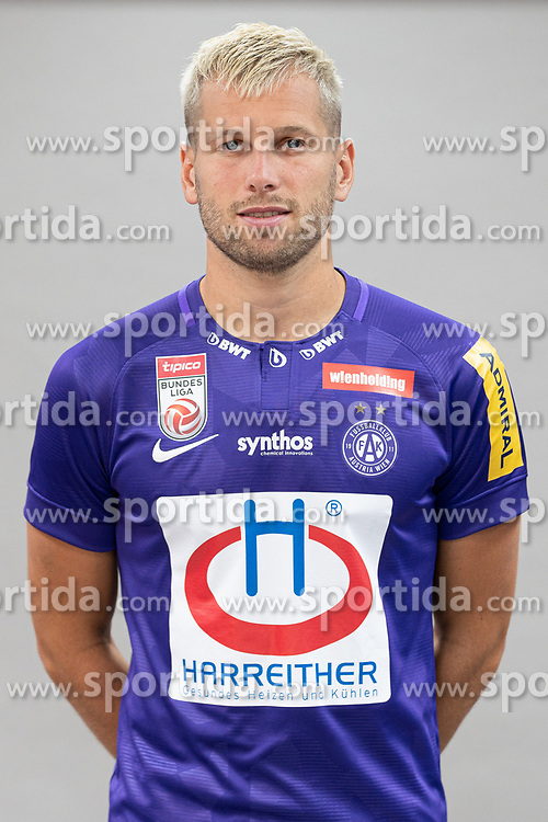 16.07.2019, Generali Arena, Wien, AUT, 1. FBL, FK Austria Wien, Fototermin, im Bild Alexander Gruenwald // Alexander Gruenwald during the official team and portrait photoshooting of tipico Bundesliga Club FK Austria Wien for the upcoming Season at the Generali Arena in Vienna, Austria on 2019/07/16. EXPA Pictures © 2019, PhotoCredit: EXPA/ Florian Schroetter