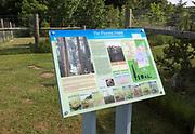 GeoSuffolk information panel board for the Pliocene Forest, Rockhall Wood SSSI, Sutton, Suffolk, England, UK