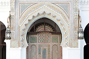 FEZ, MOROCCO - 16th DECEMBER 2015 - Al-Karaouine Mosque and University, the oldest continually operating educational institution in the world, old Fez Medina, Middle Atlas Mountains, Morocco.
