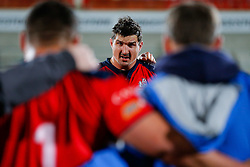 Bristol Rugby Lock Mark Sorenson looks frustrated in the huddle after Bristol lose the match 30-5 - Mandatory byline: Rogan Thomson/JMP - 13/11/2015 - RUGBY UNION - Kingspan Stadium - Belfast, Northern Ireland - Ulster Ravens v Bristol Rugby - The British & Irish Cup Pool 2.