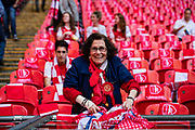 Arsenal fan at the The FA Cup Final match between Arsenal and Chelsea at Wembley Stadium, London, England on 27 May 2017. Photo by Sebastian Frej.