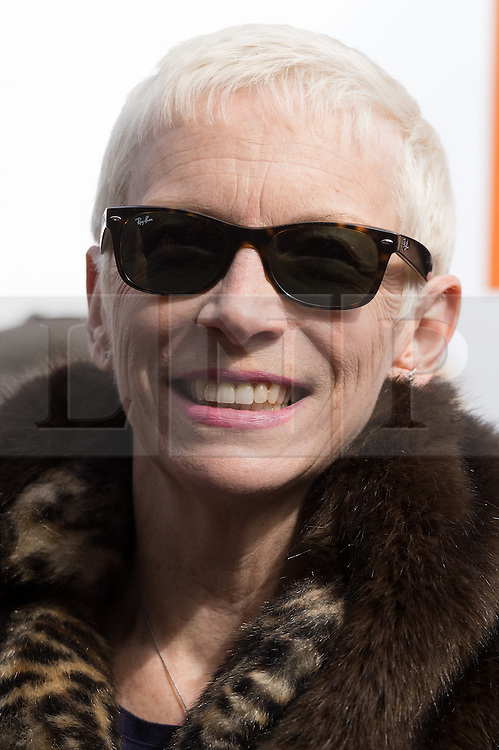 © Licensed to London News Pictures. 05/03/2017. Annie Lennox takes part in a rally raising awareness of women and girls in third world countries who spend days walking for water. March also marks CARE's annual celebration for International Women's Day. London, UK. Photo credit: Ray Tang/LNP