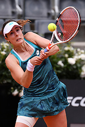 May 14, 2019, Rome, Italy: ALIZE CORNET of France in action against Aryna Sabalenka of Belarus during their match at the Italian Open. Cornet won: 6:1, 6:4.  (Credit Image: © Alfredo Falcone/Lapresse via ZUMA Press)