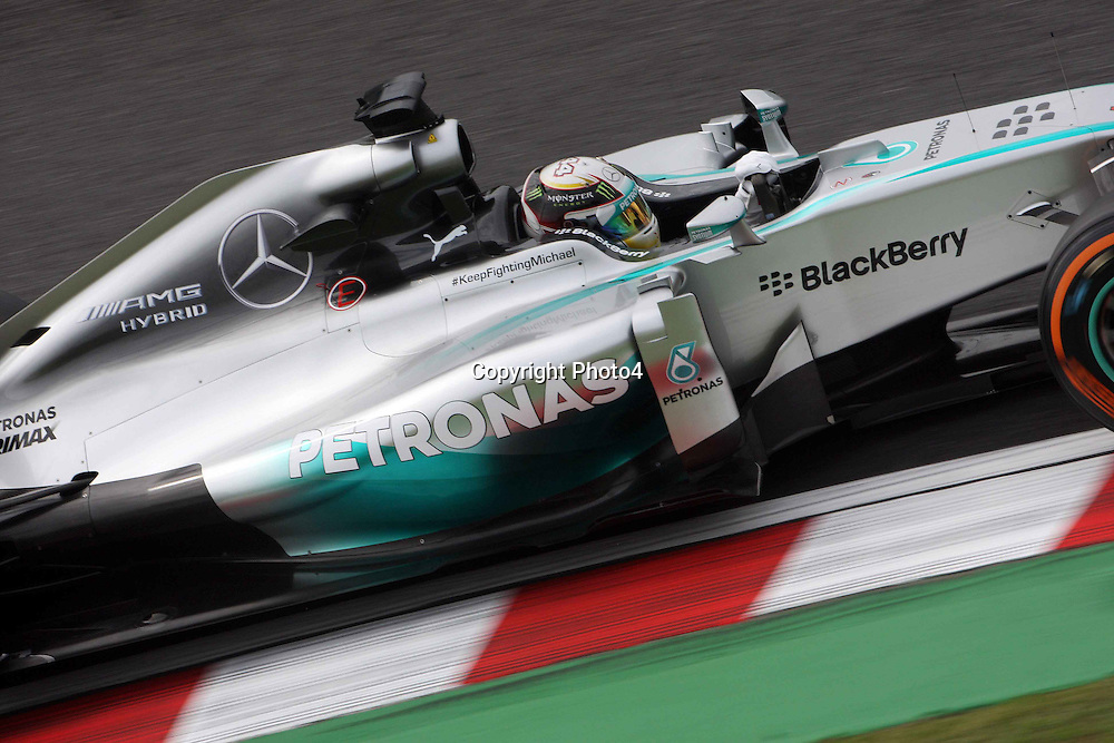 &copy; Photo4 / LaPresse<br /> 03/10/2014<br /> Sport <br /> Grand Prix Formula One Japan 2014<br /> In the pic: Lewis Hamilton (GBR) Mercedes AMG F1 W05