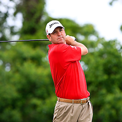2009 April 26: Harrison Frazar of Dallas TX tee's off on the eighth  hole during the final round of the Zurich Classic of New Orleans PGA Tour golf tournament played at TPC Louisiana in Avondale, Louisiana.
