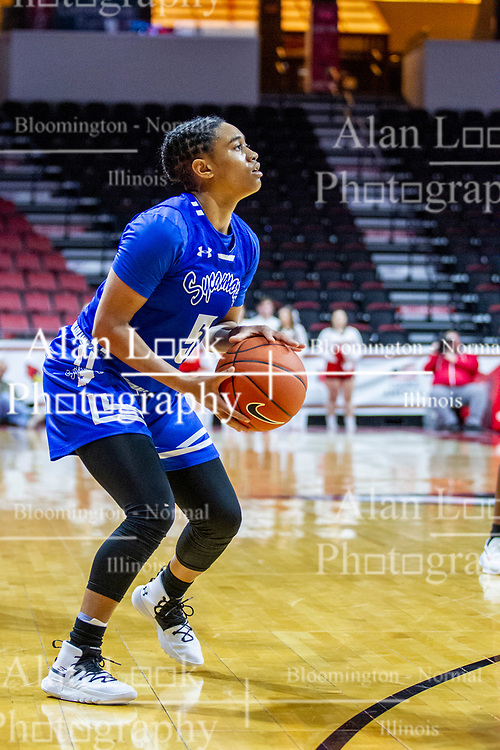 NORMAL, IL - January 03: Marie Hunter during a college women's basketball game between the ISU Redbirds and the Sycamores of Indiana State January 03 2020 at Redbird Arena in Normal, IL. (Photo by Alan Look)